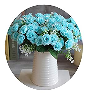 Endand 1Pcs/2 Pcs Wedding Decoration Flowers 6 Branches Or15 Buds Vivid Fake Peony Flower Silk Artificial Flowers Home Party Decor,Squeeze,1Pcs Flower 105
