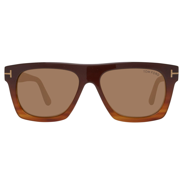 de39ff1462 Amazon.com  Tom Ford Rectangular Sunglasses TF592 Ernesto-02 50E  Brown Blonde Havana 55mm FT0592  Clothing
