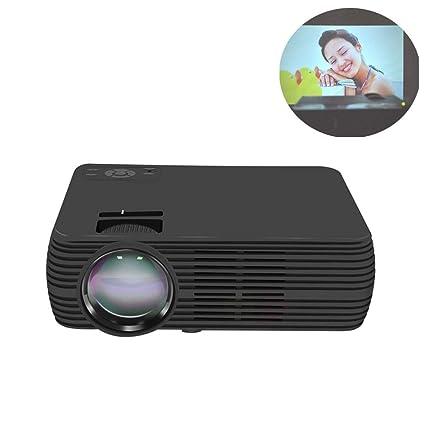 GJZhuan Proyector Home Cinema Proyector LED pequeño (Color : Black ...