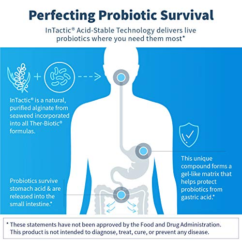 Klaire Labs Ther-Biotic Complete Probiotic - 25 Billion High CFU Blend, The Original Hypoallergenic Probiotic for Men & Women, Dairy-Free (120 Capsules) by Klaire Labs (Image #2)