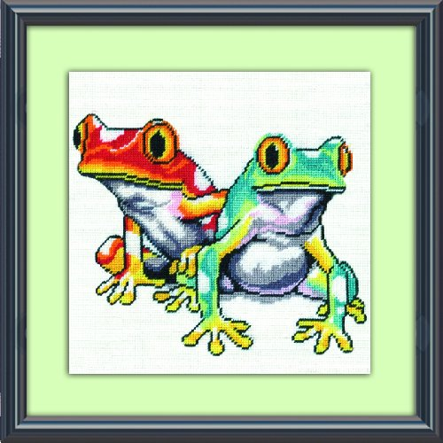 Tobin DW2519 Needlepoint Kit, 10 by 10-Inch, Frogs - Frog Needlepoint
