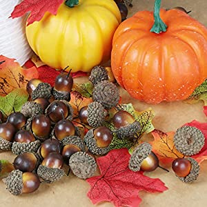 AmyHomie 300 Artificial Fall Maple Leaves in a Mixture of Autumn Colors - Great Autumn Table Scatters for Fall Weddings & Autumn Parties 2