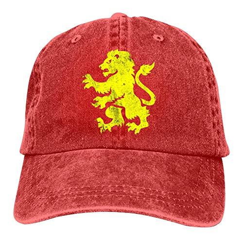 Aston Villa Vintage Double Buckle Adjustable Cowboy Personality Retro Cowboy Hat Red