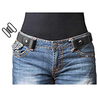bb20a99806f Image Unavailable. Image not available for. Color  No Buckle Stretch Belt  For Women Men Elastic Waist Belt 1-1 4 quot