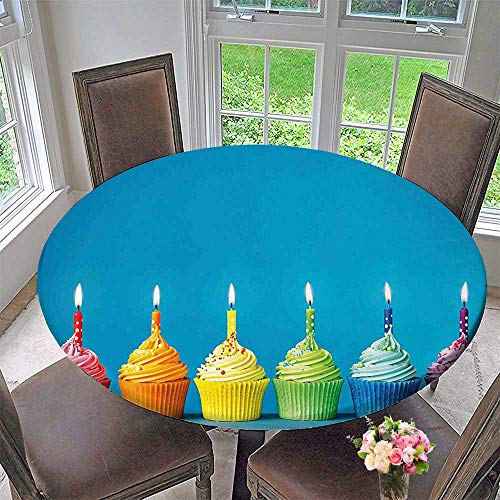 The Round Table Cloth Cupcakes in Rainbow Colors