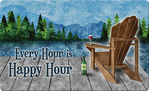 Shop Cafe Bottle (Toland Home Garden Happy Hour Lake 18 x 30 Inch Decorative Wine Floor Mat Adirondack Doormat)