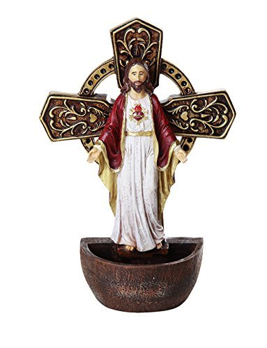 - The Sacred Heart of Jesus Holy Water Font Religious Sacrament Wall Decor 6.75 inches