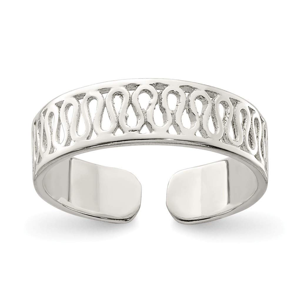 Roy Rose Jewelry Sterling Silver Solid Toe Ring