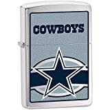 Zippo NFL Cowboys Lighter (Silver, 5 1/2 x 3 1/2 cm)