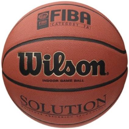 Wilson B0616X Pelota de Baloncesto Solution Cuero sintético ...