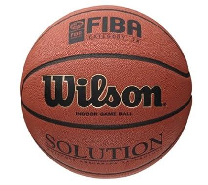 Wilson Pelota de Baloncesto Solution Cuero sintético Interior ...