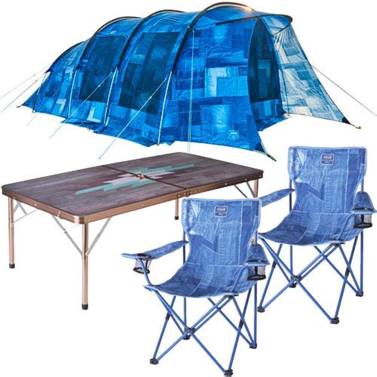 [해외] 콜맨 인디고 라벨 IL 텐트 테이블 의자 세트
