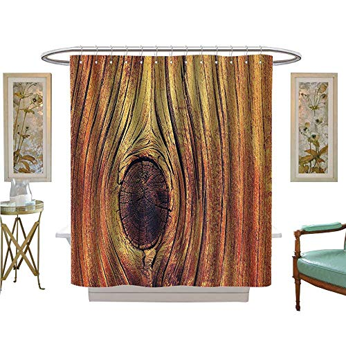 Leigh R. Avans Shower Curtains Mildew Resistant Lfe Tree Ccept with Divided Core Macro Circles Habitat Natural Satin Fabric Bathroom Washable (Leigh Tie Silk)
