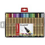 STABILO point 88 - Coffret de 25 stylos-feutres pointe fine - Coloris assortis