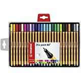 Stabilo Point 88 Wallet Fineliner Pens, Set of 25, Multicolored