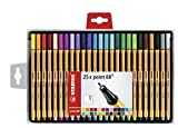 Stabilo Point 88 Wallet Fineliner Pens, Set of 25, Multicolored