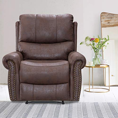Recliner Chair Reclining Recliner Sofa Couch Sofa Leather Home Theater Seating Manual Recliner Motion for Living - Theater Leather Home Recliner Motion