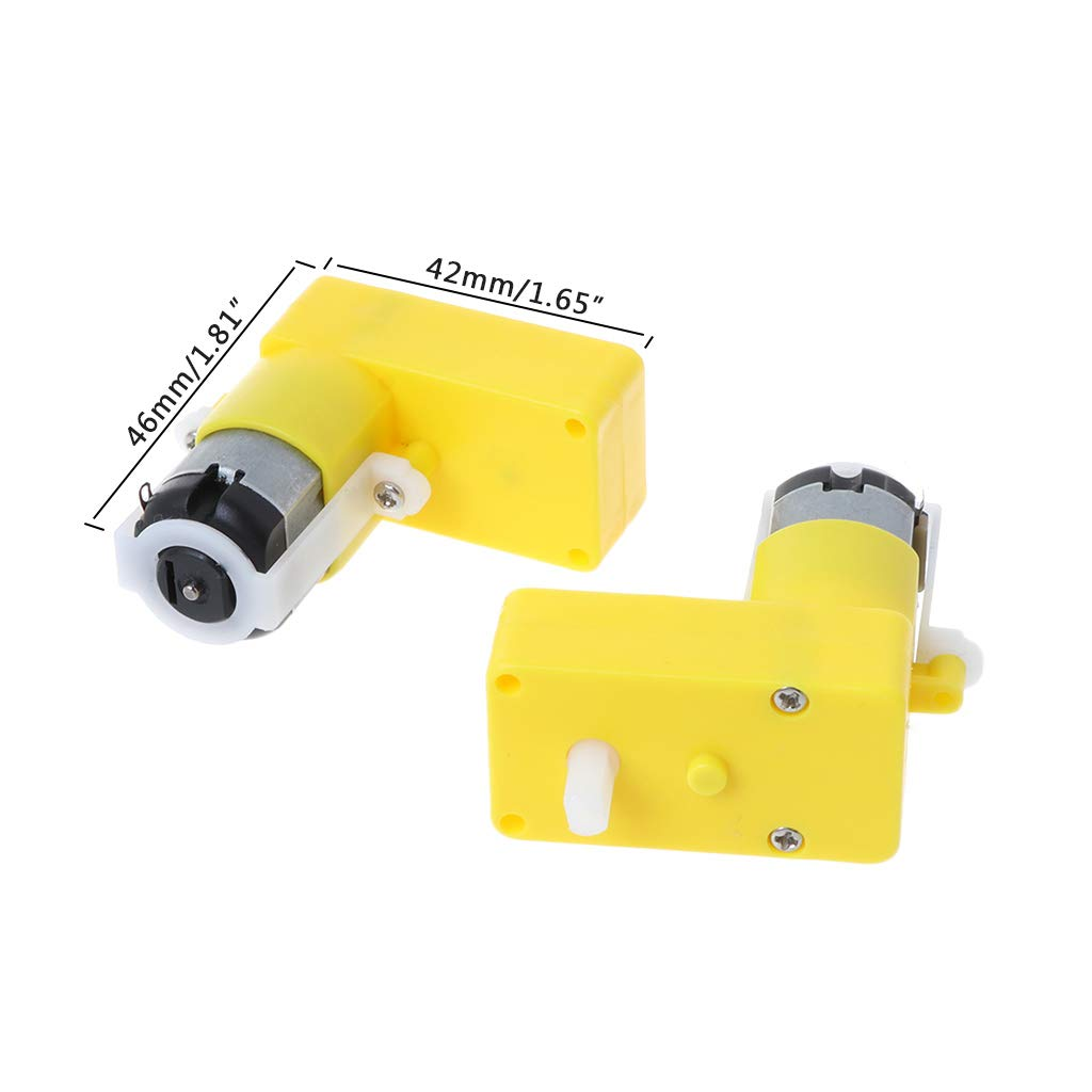 YoungerY 2 Piezas Motor Reductor Tipo L-Bend DC3-6V