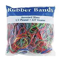 BAZIC 465 Bandas de caucho multicolor para la escuela, el hogar o la oficina (Dimensiones variadas 227 g /0.5 lb)