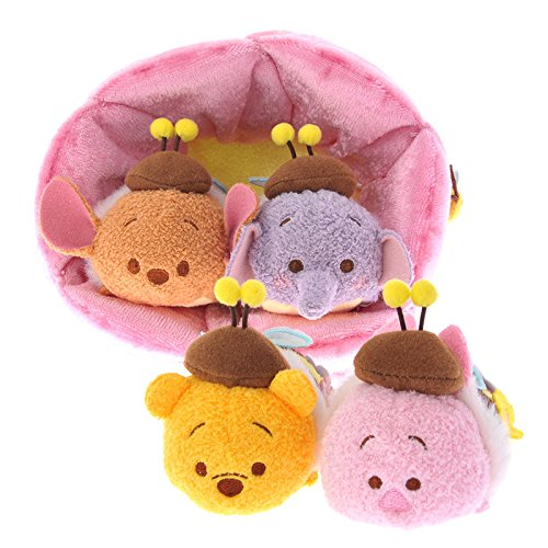 Tsum Tsum HONEYBEE Winnie the Pooh,Piglet,Roo,Lumpy + Flower House set (Piglet House)