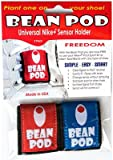Bean Pod 2 Pk: Universal Nike+ iPod Sensor Holder - Nike Plus iPod Sensor Cases, Works w/ All Shoes: 1 Red Sensor Shoe Pouch and 1 Blue Sensor Shoe Pouch