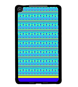 PrintDhaba Tribal Pattern D-1722 Back Case Cover for ASUS GOOGLE NEXUS 7 2013 (Multi-Coloured)