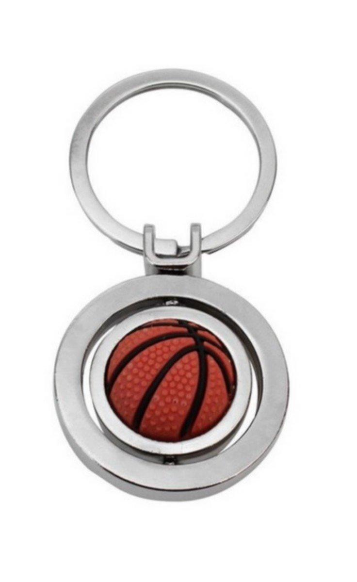 Llavero, joyas de mochila, pelota de baloncesto, de baloncesto, de acero inoxidable.