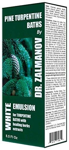 Zalmanov`s Turpentine Bath Emulsion - (White) 250ml/8.5 Fl Oz