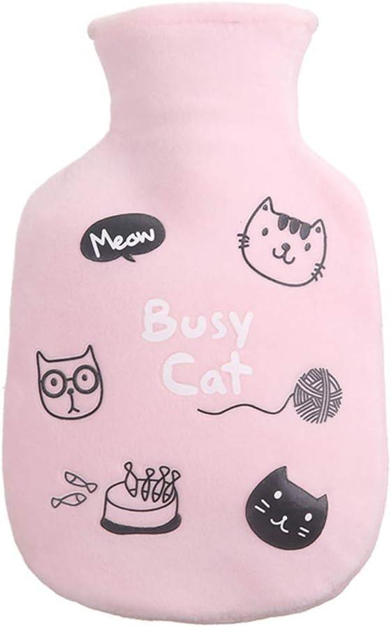 Shuda 1pc bolsa de agua caliente de goma Mini dibujo animado Mignon calientamanos lavable para botella de agua caliente con Jet de agua 350ml (Black Friday deals) -style 1