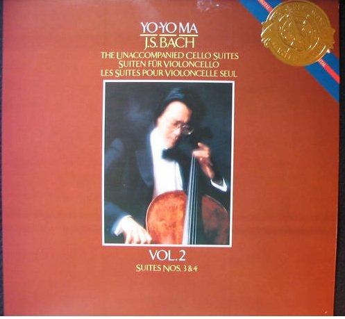 Yo-Yo Ma - J.s. Bach Unaccompanied Cello Suites Vol. 2 Suites Nos. 3 & 4 Cbs Gold Seal Masterworks - Vinyl Cello Unaccompanied