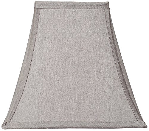 Pewter Gray Square Shade 5.25x10x9.5