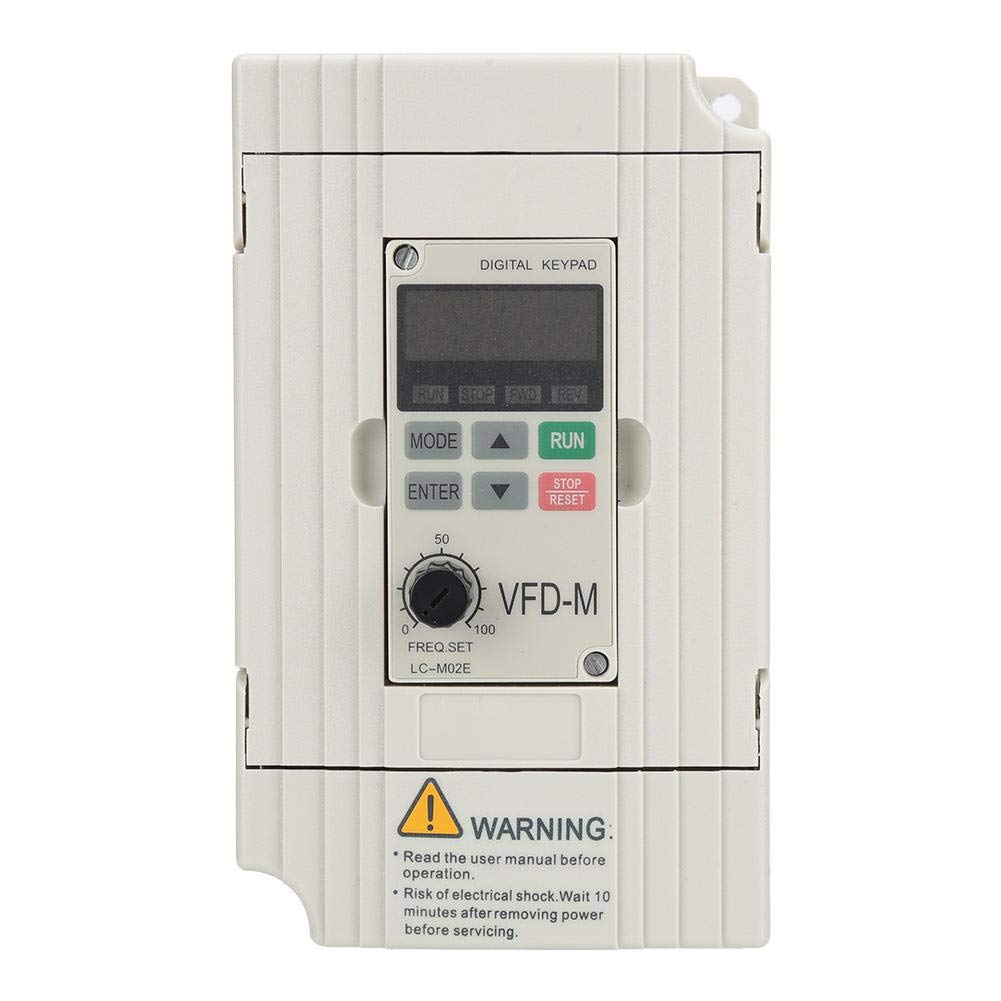 Security Single/3 Phase 220V Inverter,AC Motor Drive Voltage Vector Type Motor Drive Inverter (0.75KW Inverter) by Xinwoer