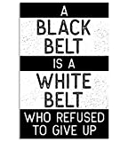 Damdekoli Black Belt Is a White Belt Jiu Jitsu, Taekwondo, Karate Poster, Martial Arts, 11 x 17 Inches, Wall Art for Gym, Prints for Gym, Motivational Poster