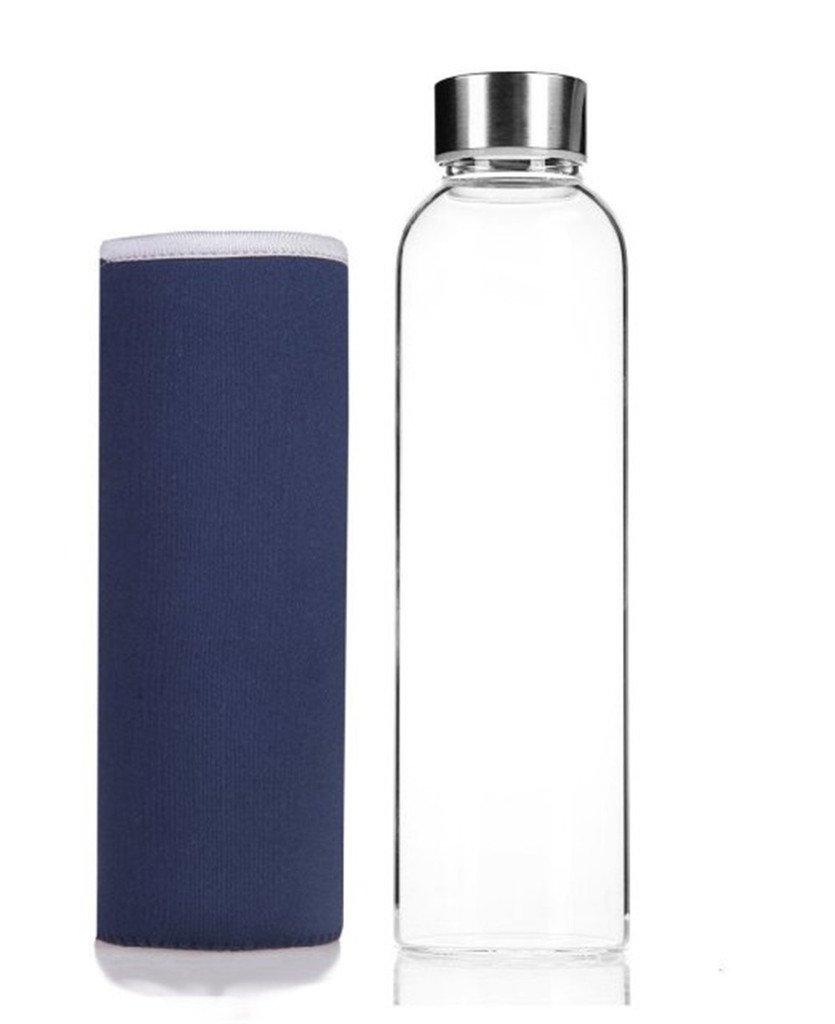 HMILYDYK - Botella de agua de cristal, elegante y portátil, 550ml: Amazon.es: Deportes y aire libre