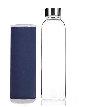HMILYDYK 550 ml elegante botella de agua de vidrio hecho de portátil de alta calidad ambientales