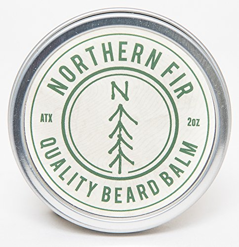 Northern Fir Beard Balm  - All Natural Leave In Conditioner with Vitamin E & Essential Oils For Coarse & Rogue Hair - Promotes Healthy Beard Growth for Men - 2 oz