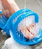 ZOSOE Waterproof Easy Foot Cleaner Shower Slipper for All Age groups foot cleaning brush foot cleaner slipper Easy Feet Foot Cleaner/Easy Bath Brush/Shower Foot Cleaner (Blue)