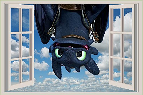 How to train your dragon Toothless upside down Movie 3D Wall Decal Sticker 18