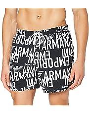 Portfolio Men's Emporio Armani Swimwear Boxer All Over Graphic Logo Swim trunks