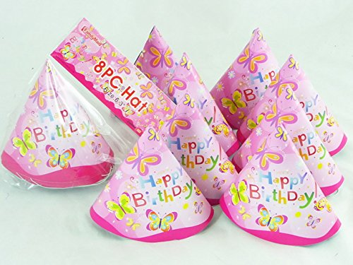 PARTY HATS 8PC BUTTERFLY 16CM , Case of 144