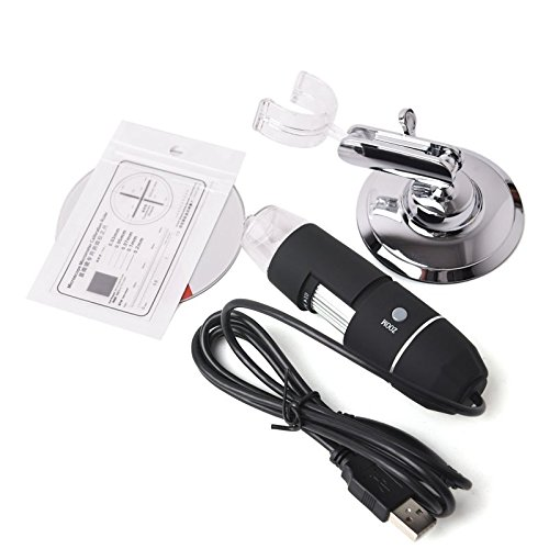 Details about 2MP 1000X 8 LED USB 2.0 Digital Microscope Endoscope Zoom Camera Magnifier+Stand