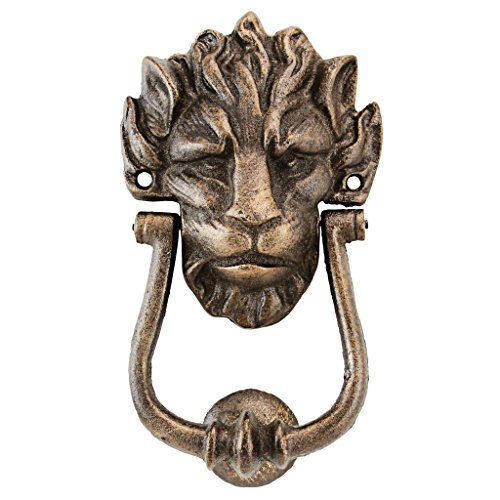 (Design Toscano 10 Downing Street Lion Authentic Foundry Door Knocker)