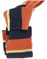 Clj Charles Le Jeune - Cravate Tricot. Orange Alicante