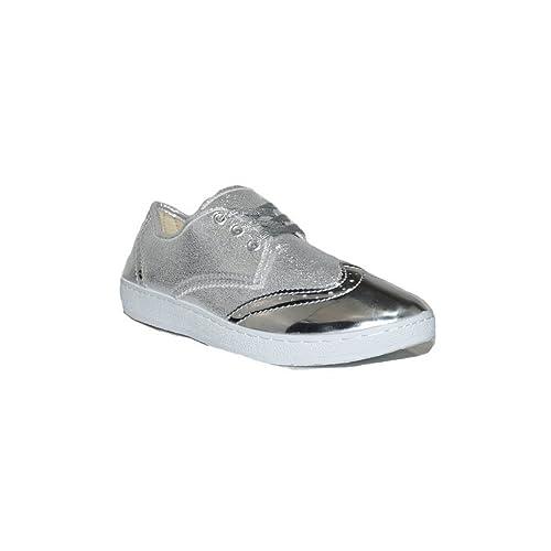 JECKNI JECKNIS VCT Cher GT-50 Zapatillas Lona Mujer Casuales Plateadas: Amazon.es: Zapatos y complementos