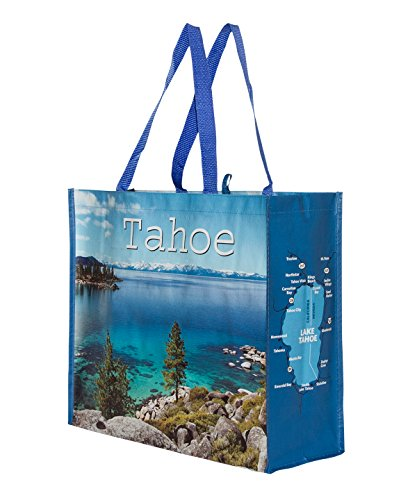Lake Tahoe Bags Reusable Grocery Bag Tote w/ Tahoe Photos (4 - Shopping In Tahoe Lake