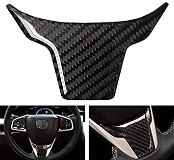 2p Carbon Fiber Color Inner Steering Wheel Cover Trim For Honda Civic 10th 16~18