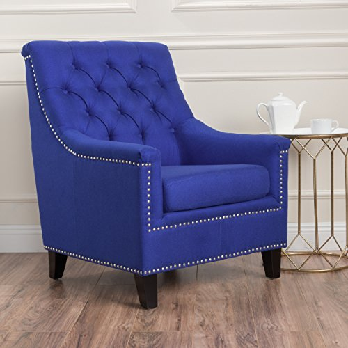 (Christopher Knight Home 300043 Jaclyn Arm Chair Navy Blue)