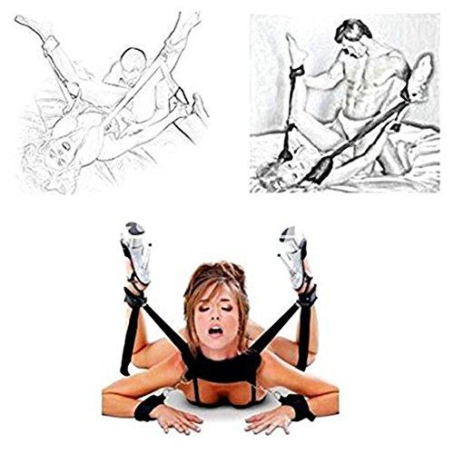 SM Toy Hand und Fußfesseln mit Augenbinde | Paloqueth Fesselset Für die Fesseln Lust | SM Sexspielzeug für Einsteiger und Erfahrene