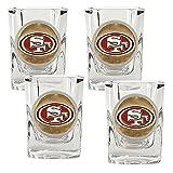 NFL San Francisco 49ers Four Piece Square Shot Glass Set