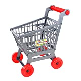Dovewill Miniature Supermarket Shopping Hand Trolley Cart for Kids Pretend Play Toy Playset- Easy to Assemble